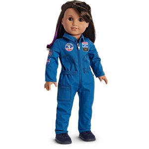 Doll girl clothing 18 inch doll clothes american girl lucianas flight suit for 18 inch dolls reheart Choice Image