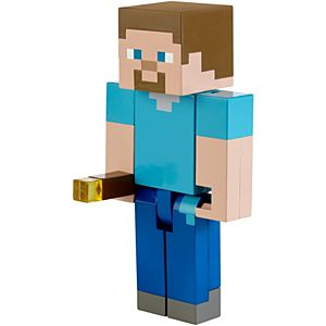 Minecraft Torch-Sparking Steve Light-Up Figure