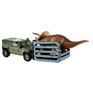 Matchbox®  Jurassic World Dino Transporters Tricera-Tracker™ Vehicle And Figure