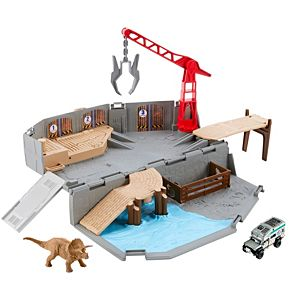 Matchbox Jurassic World Portable Playset Harbor Rescue Playset