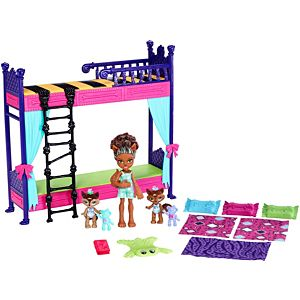 Monster High™ Monster Family Wolf Bunk Bed Playset + Dolls