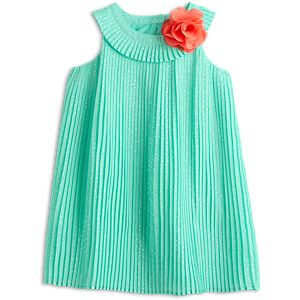 Pleats & Petals Dress for Little Girls