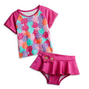 Paradise Palms Swimsuit for Little Girls
