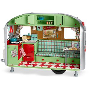 maryellens airstream travel trailer - American Girl Doll Armoire