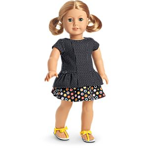Dot Skirt Outfit for 18-inch Dolls