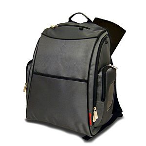 Deluxe Sporty Diaper Backpack with the FastFinder™ Pocket System (Gray)