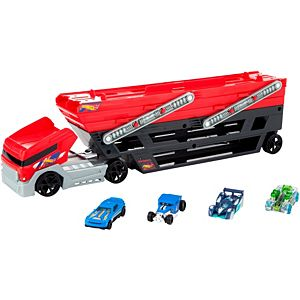 Hot Wheels® Mega Hauler + 4 Cars Vehicles