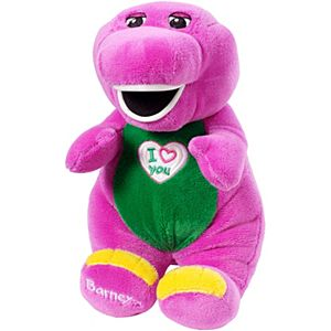"I Love You Barney 10"" Plush Figure"