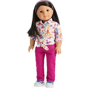 Cool Colors Outfit for 18-inch Dolls