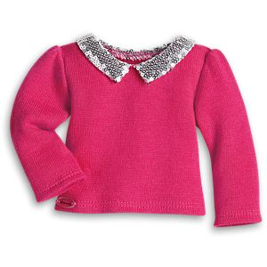 Sequin Collar Sweater for 18-inch Dolls