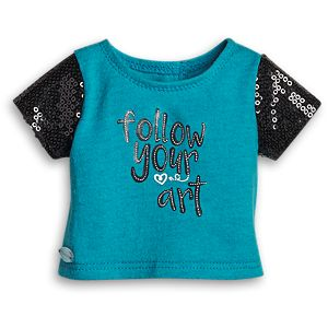 Follow Your Art Tee for 18-inch Dolls
