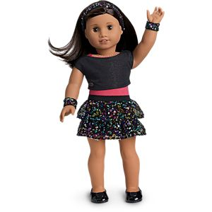 Sparkling Star Dance Outfit for 18-inch Dolls