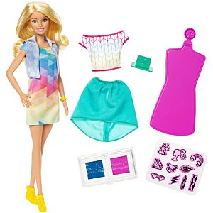 Barbie® Crayola® Color Stamp Fashion Doll