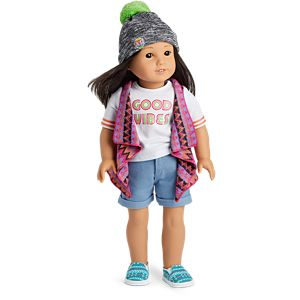 Good Vibes Skate Outfit for 18-inch Dolls