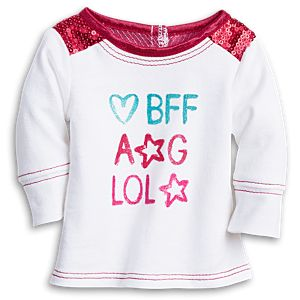 BFF Graphic Tee for 18-inch Dolls