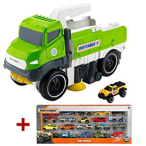 Matchbox® Sweep 'N' Keep™ Truck + 20-Car Pack Gift Set