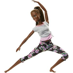 Barbie® Made to Move™ Doll – Original with Brunette Ponytail