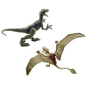 "Jurassic World 2-Pack Dino #1 Velociraptor ""Blue"" & Dimorphodon"