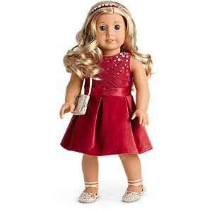 'Tis the Season Party Dress for 18-inch Dolls