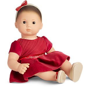 Merry & Bright Party Dress for Bitty Baby Dolls