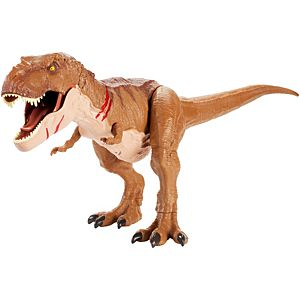 Jurassic World Battle Damage Roarin' Super Colossal Tyrannosaurus Rex Figure