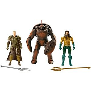 Aquaman™ Movie Aquaman™, Orm™, Brine King™ Action Figure 3-Pack, 6-inch