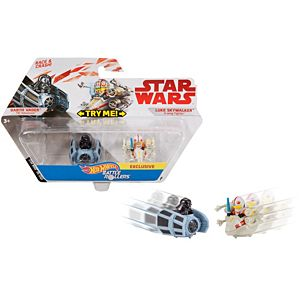 Hot Wheels® Star Wars™ Darth Vader TIE Advanced™ vs. Luke Skywalker™ X-wing Fighter™ 2-Pack Vehicle