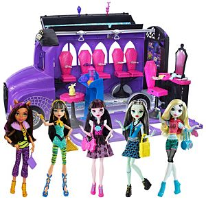 Monster High® Deluxe Bus + Best Ghoulfriends Gift Set