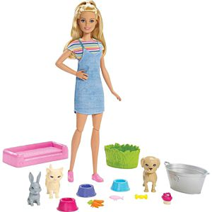 Barbie® Play 'n' Wash Pets™ Doll and Playset