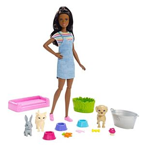 Barbie® Plan 'n' Wash Pets™ Doll and Playset