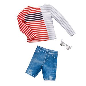 Barbie Ken Stripe Stripe Boatneck Shirt Fashion