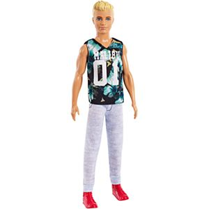 Ken® Fashionistas® Doll - Original with Blonde Hair, Wearing Tropical Malibu Tank and Gray Sweat Pants