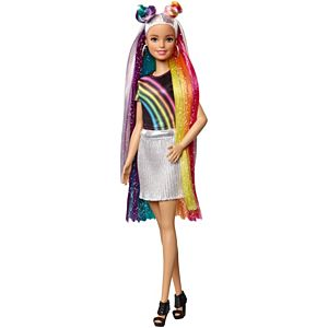 Barbie® Rainbow Sparkle Hair Doll