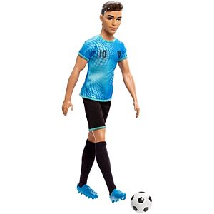 Ken™ Soccer Player Doll, Wearing Soccer Uniform Accessorized with Soccer Socks and Cleats