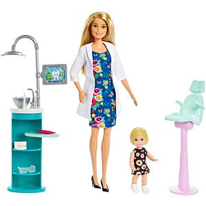 Barbie® Dentist Doll and Playset, Blonde, with Small Patient  Doll and Accessories