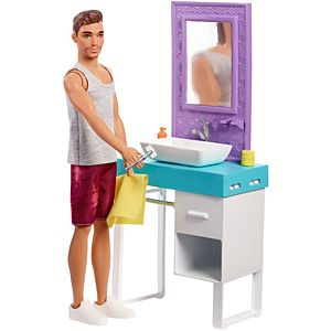 Barbie Ken and Bathroom Playset