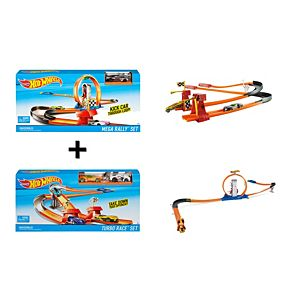 Hot Wheels® Mega Rally™ & Turbo Race™ Gift Set