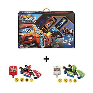 Hot Wheels® Ai Race System & Mario Accessories Gift Set
