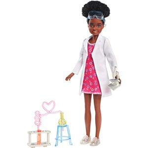 Barbie® Team Stacie™ Doll and Science Accessories, Including Microscope and Chemistry Experiment Setup