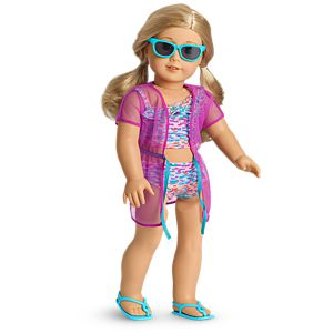 Summer Fun Swimsuit Set for 18-inch Dolls