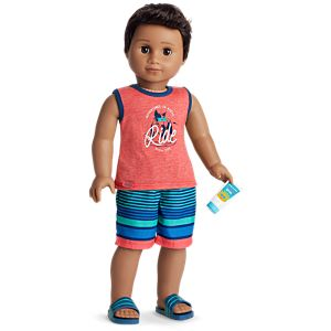 Poolside Swim Trunks Set for 18-inch Dolls