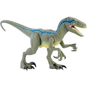 "Jurassic World Colossal Velociraptor Blue 18"" High & 3.5 Feet Long"