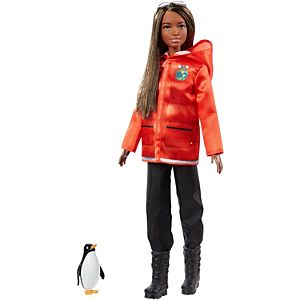 Barbie® Polar Marine Biologist Doll, Brunette with Penguin, Inspired by National Geographic
