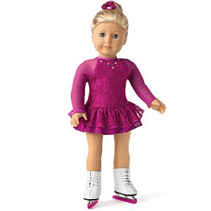 Figure Skating Outfit for 18-inch Dolls