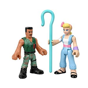 Imaginext®  Disney Pixar Toy Story 4 Bo Peep & Combat Carl Figure 2-Pack