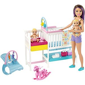 Barbie® Skipper® Babysitters Inc™ Nap 'n' Nurture Nursery™ Dolls and Playset
