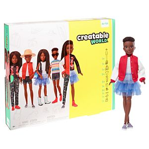 Creatable World™ Deluxe Character Kit Customizable Doll, Black Braided Hair