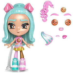 Lotta Looks™ Cookie Swirl Chocolate Chip Chill™ Doll with 10+ Plug/Play Pieces, 100+ Looks​
