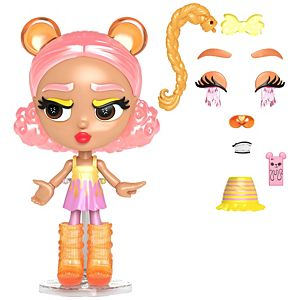 Lotta Looks™ Cookie Swirl Candy Cub™ Doll 10+ Plug/Play Pieces, 100+ Looks