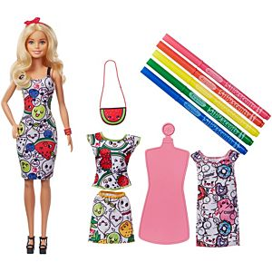 Barbie® Crayola® Color-In Fashions Doll & Fashions
